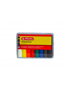 Plastilina Herlitz, 8 culori/set Economic