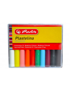 Plastilina Herlitz, 10 culori/set Economic