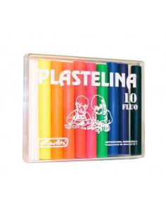 Plastilina Herlitz, Set 10 Culori Fluorescente