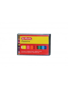 Plastilina Herlitz, 16 culori/set Economic