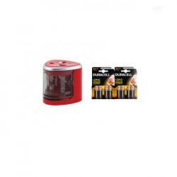 Set scoala - Ascutitoare electrica dubla DACO + 8 Baterii Duracell basic LR06