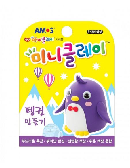Plastilina Amos iClay, 30 G, Mini Clay, Model Pinguin