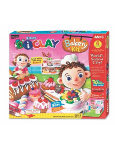 Plastilina Amos iClay, 6 buc/set, model Bakery Kit