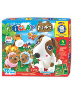 Plastilina Amos iClay 5 bucati/set model Puppy
