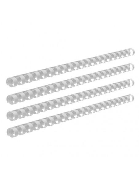 Inele Plastic Indosariere 12 mm Ecada Alb - 100 buc / cutie