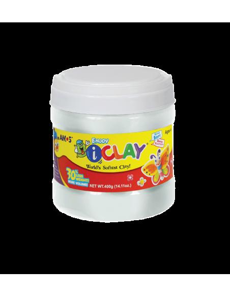 Plastilina Amos iClay 400 g, alb