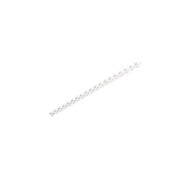 Inele Plastic Indosariere 6 mm Fellowes Alb - 100 buc / cutie