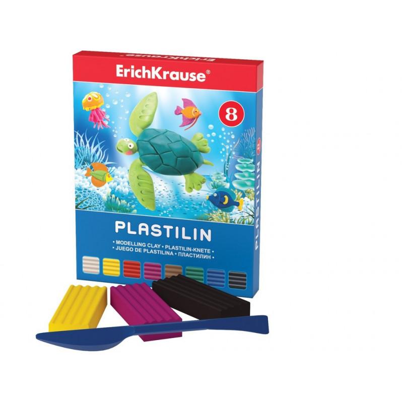 Plastilină ArtBerry, 8 culori si cuțit modelaj