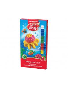 Plastilină ArtBerry cu Aloe Vera, 6 culori si cuțit modelaj