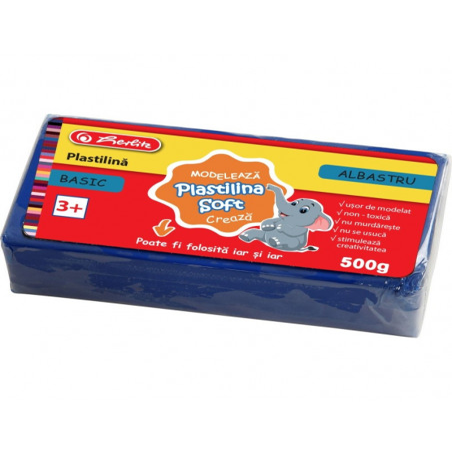 Plastilina Soft Clay, 500 Gr, Albastru Basic