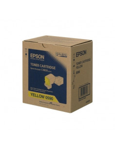 Cartus Toner Original Epson C13S050590 Yellow, 6000 pagini