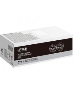 Cartus Toner Original Epson C13S050711 Negru, 2x2500 pagini