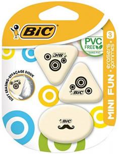 Radiera BIC Mini Fun, 3 buc/blister