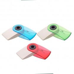Radiera Creion Faber-Castell Sleeve Mini Culori Transparente