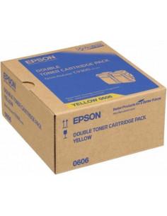 Cartus Toner Original Epson C13S050606 Yellow, 2x7500 pagini