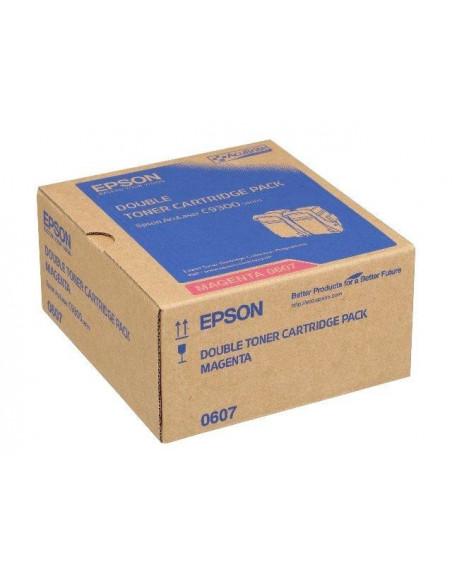 Cartus Toner Original Epson C13S050607 Magenta, 2x7500 pagini