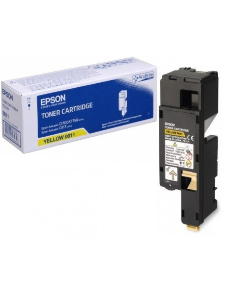 Cartus Toner Original Epson C13S050611 Yellow, 1400 pagini