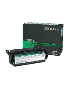 Cartus Toner Original Lexmark T654X80G, Black, 36000 pagini
