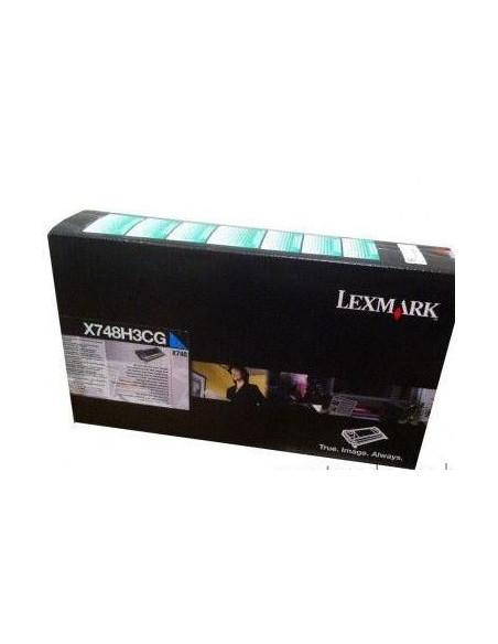 Cartus Toner Original Lexmark X748H3CG, Cyan, 10000 pagini