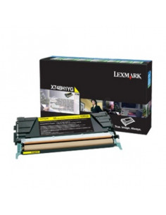 Cartus Toner Original Lexmark X748H3YG, Yellow, 10000 pagini