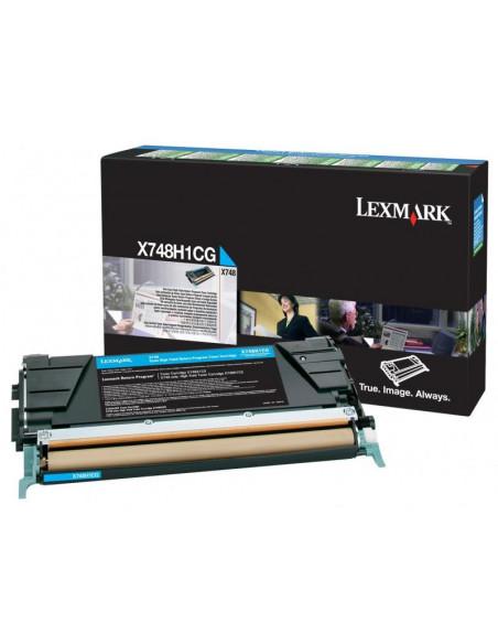 Cartus Toner Original Lexmark X748H1CG, Cyan, 10000 pagini