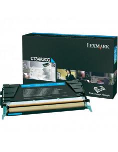 Cartus Toner Original Lexmark C734A2CG, Cyan, 6000 pagini