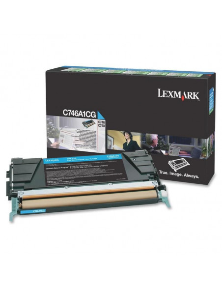 Cartus Toner Original Lexmark C746A2CG, Cyan, 7000 pagini