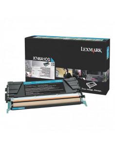 Cartus Toner Original Lexmark X746A1CG, Cyan, 7000 pagini