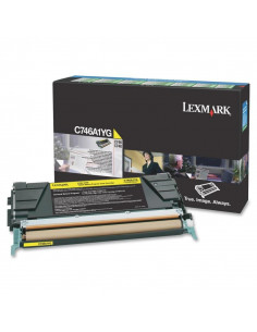 Cartus Toner Original Lexmark C746A1YG, Yellow, 7000 pagini