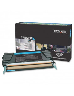 Cartus Toner Original Lexmark C746A1CG, Cyan, 7000 pagini