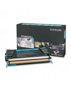 Cartus Toner Original Lexmark C734A1CG, Cyan, 6000 pagini