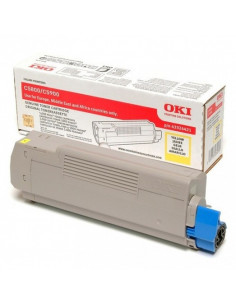 Cartus Toner Original Oki 43324421 Yellow, 5000 pagini