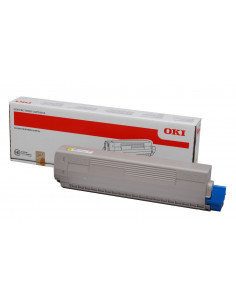 Cartus Toner Original Oki 44844613 Yellow, 7300 pagini