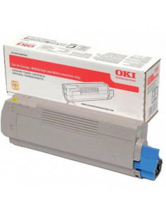 Cartus Toner Original Oki 46490605 Yellow, 6000 pagini
