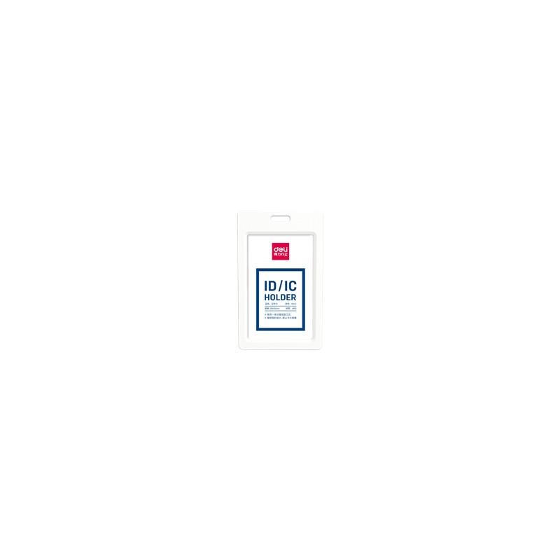 Ecuson Vertical Deli Rigid Pentru Carduri 54*90 mm, Rama Alba