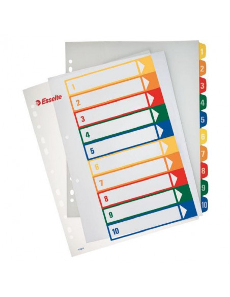 Separatoare Index Plastic Imprimabil Esselte 1 - 10
