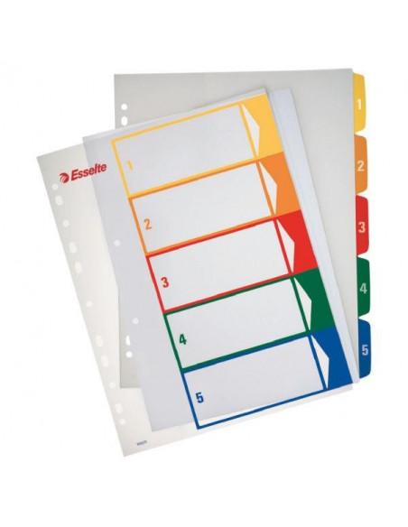 Separatoare Index Plastic Imprimabil Esselte 1 - 5