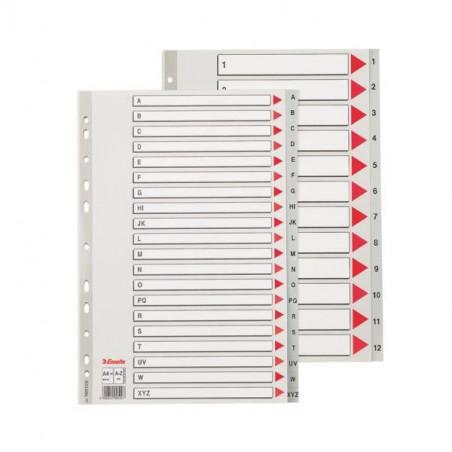 Separatoare Index Plastic Maxi Esselte A - Z