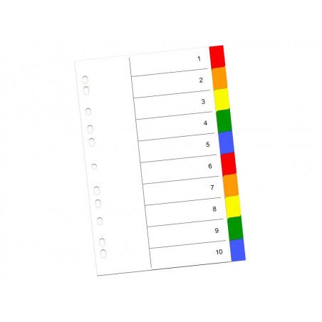 Index Color Din Plastic 10 Buc