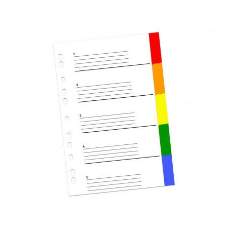 Index Color Din Plastic 5 Buc