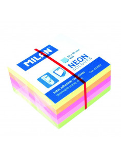 Bloc Notes Adeziv Cub 50 X 50 Mm 5 Culori Neon Milan