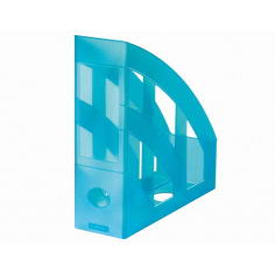 Suport Dosare Plastic A4 Turcoaz Translucid