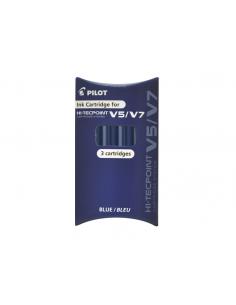 Rezerva roller V5/V7 reincarcabil, albastru, 3 bucati/set