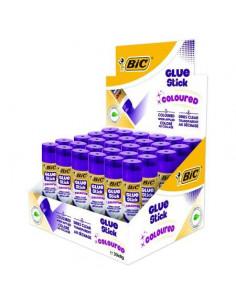 Lipici solid BIC ECO, 8 gr, 30 buc/cutie, mov