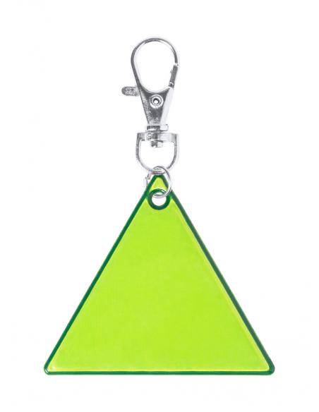Breloc triunghi reflectorizant cu carabină, Galben