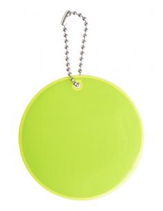 Breloc reflectorizant cu lanț metalic, Galben Neon