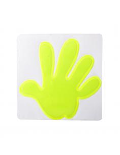 Etichetă autocolantă reflectorizantă în formă de mână, Galbena