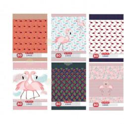 Set caiete Herlitz Flamingo A4, 5 Dictando + 5 Matematica, 80 File