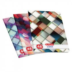 Set 10 caiete Herlitz Holografic A4, Velin, 48 File