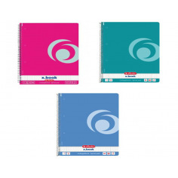 Set 4 caiete Herlitz Rainbow A4, matematica, 80 File, Spirala